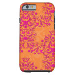 Tangerine Tango Floral Pink and Orange iPhone 6 ca Tough iPhone 6 Case