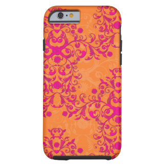 Tangerine Tango Floral Pink and Orange iPhone 6 ca Tough iPhone 6 Case
