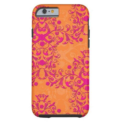 Tangerine Tango Floral Pink and Orange iPhone 6 ca iPhone 6 Case