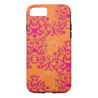 Tangerine Tango Floral Pink and Orange iPhone 7 ca iPhone 7 Case
