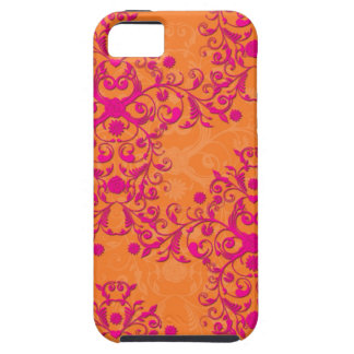 Tangerine Tango Floral Pink and Orange iPhone Case