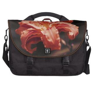 Tangerine Tango Flower Laptop Messenger Bag