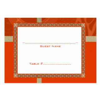 Tangerine Time Medallion Wedding Seating Card Large Business Cards (Pack Of 100)
