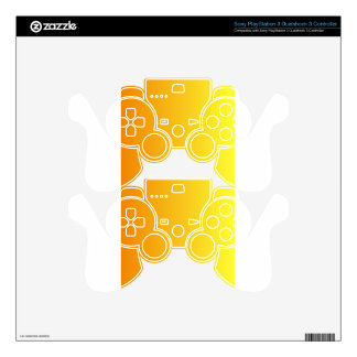 Tangerine to Electric Yellow Vertical Gradient PS3 Controller Skin