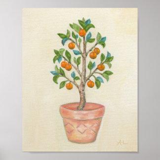 Tangerine Tree art print Poster