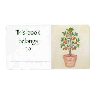 Tangerine Tree book label Shipping Label