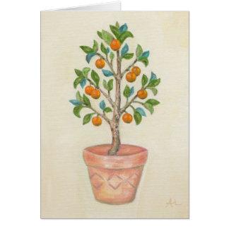 Tangerine Tree card Note Card
