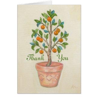Tangerine Tree thank you card