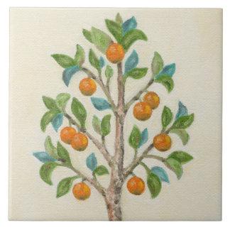 Tangerine Tree wall tile Large Square Tile