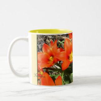 Tangerine Tulips Bloom Bursting Coffee & Tea Mug