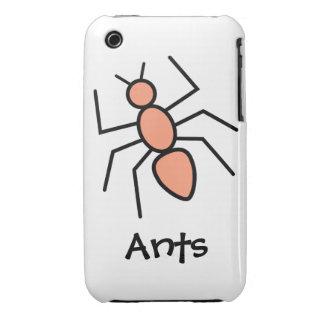 Tangerine Vector Ant iPhone 3 Case-Mate Cases