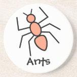 Tangerine Vector Ant Coaster