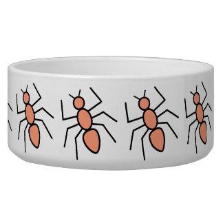 Tangerine Vector Ants Dog Bowl