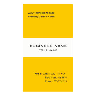 Tangerine yellow and white striped business card business card templates