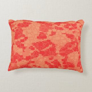 Tangerine Zeal Tiled Artwork Accent Pillow