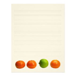 Tangerines and Lime Lined Letterhead