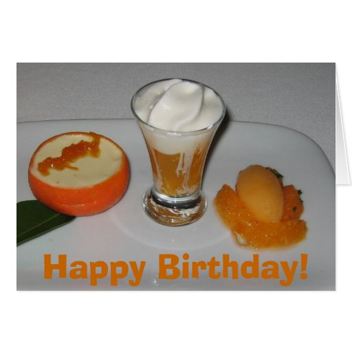 Tangerines, Happy Birthday! Greeting Card