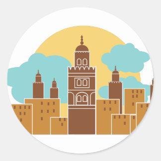 Tangier Classic Round Sticker
