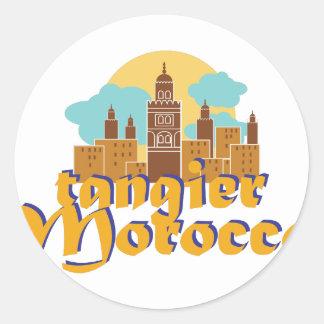 Tangier Morocco Classic Round Sticker