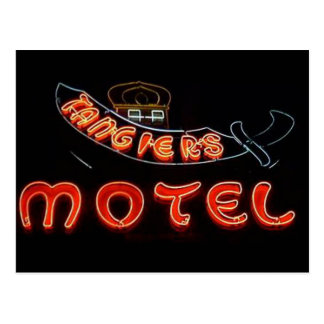 Tangier's Motel Vintage Chicago Neon Post Card Post Card