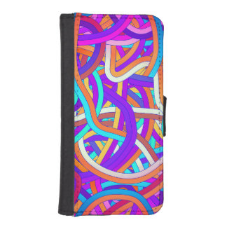 Tangle Ball in Pink, Orange and Blue Phone Wallet Cases