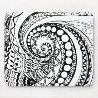 tangle geometric zen pattern2 mouse pad