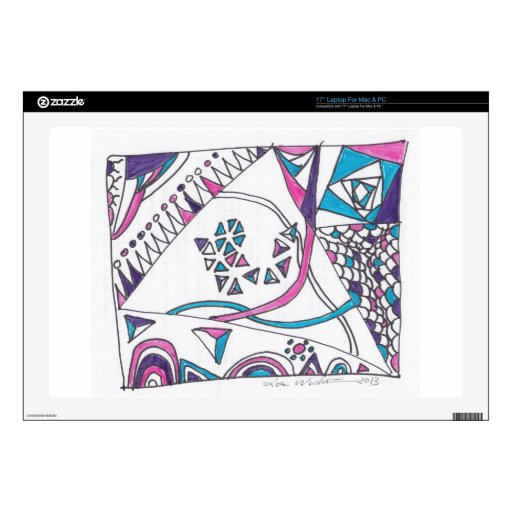 """tangle kite decal for 17"""" laptop"""