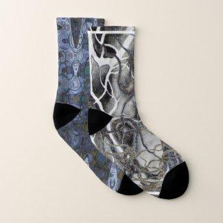 Tangle Socks in Blue