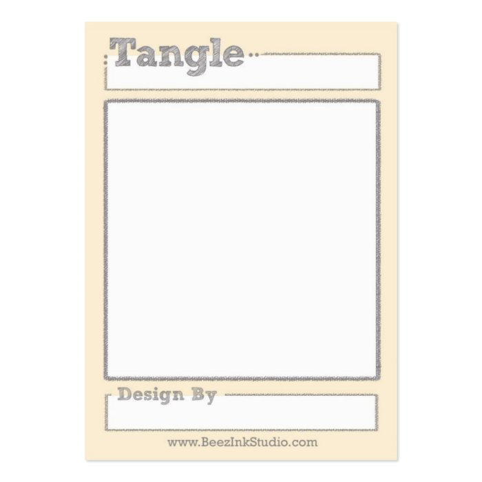 Tangle Trading Card