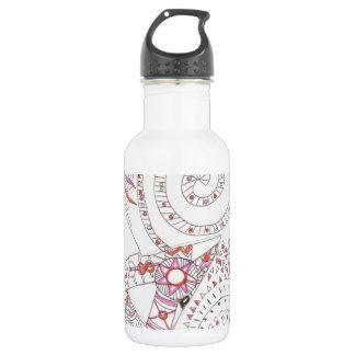 tangled alien alphabet letter 18oz water bottle