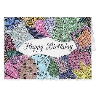 Tangled Art Birthday Card