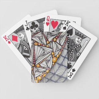 Tangled Art on Black&White Playing Cards