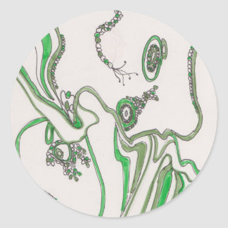 tangled bacterial mat classic round sticker