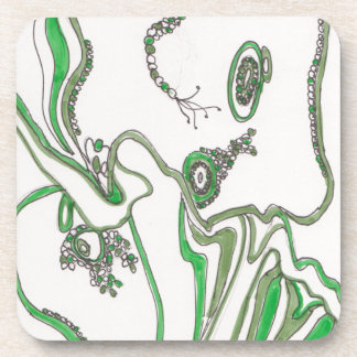 tangled bacterial mat drink coaster
