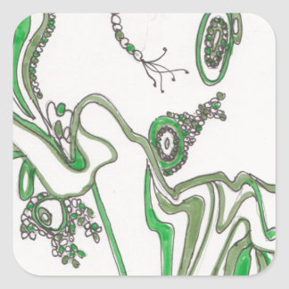 tangled bacterial mat square sticker