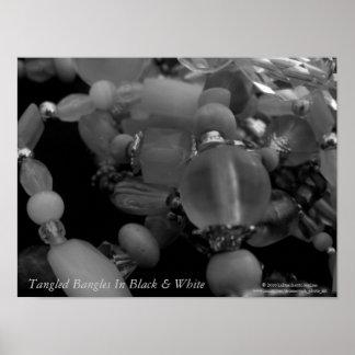 """Tangled Bangles"" In Black & White Poster"