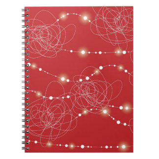 Tangled Bright Fairy Lights Glow Holiday Notebook
