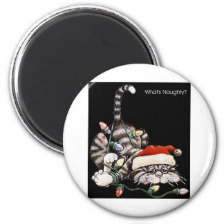 Tangled Cat 2 Inch Round Magnet