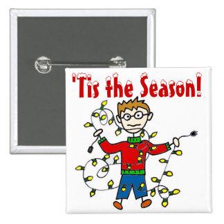 Tangled Christmas Lights Button