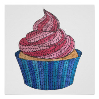 "Tangled Cupcake (24"" x 24""), Value Poster (Matte)"