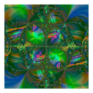 Tangled Destiny Psychedelic Fractal Poster
