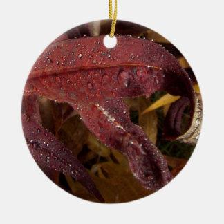 Tangled Flora; No Text Ceramic Ornament