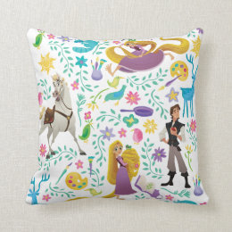 Tangled | Friends to the End Pattern Throw Pillow
