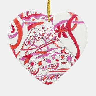 tangled garment ceramic ornament