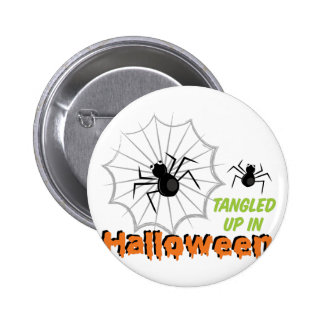 Tangled Halloween Pinback Button