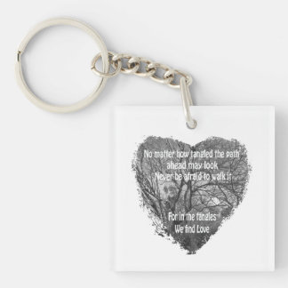 Tangled heart keychain