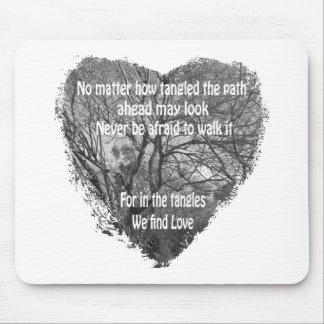 Tangled heart mousepad