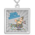 tangled in lights merry bleeping christmas cartoon pendants