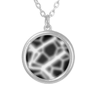Tangled in the Web Silver Plated Necklace