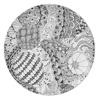 Tangled Laces Melamine Plate